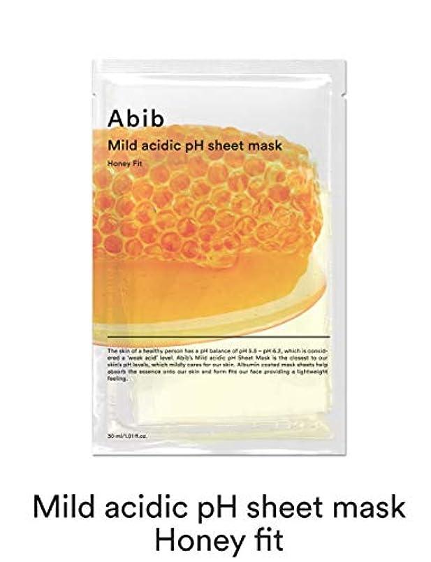 [Abib] アビブ弱酸性pHシートマスクハニーフィット 30mlx10枚 / ABIB MILD ACIDIC pH SHEET MASK HONEY FIT 30mlx10EA [並行輸入品]