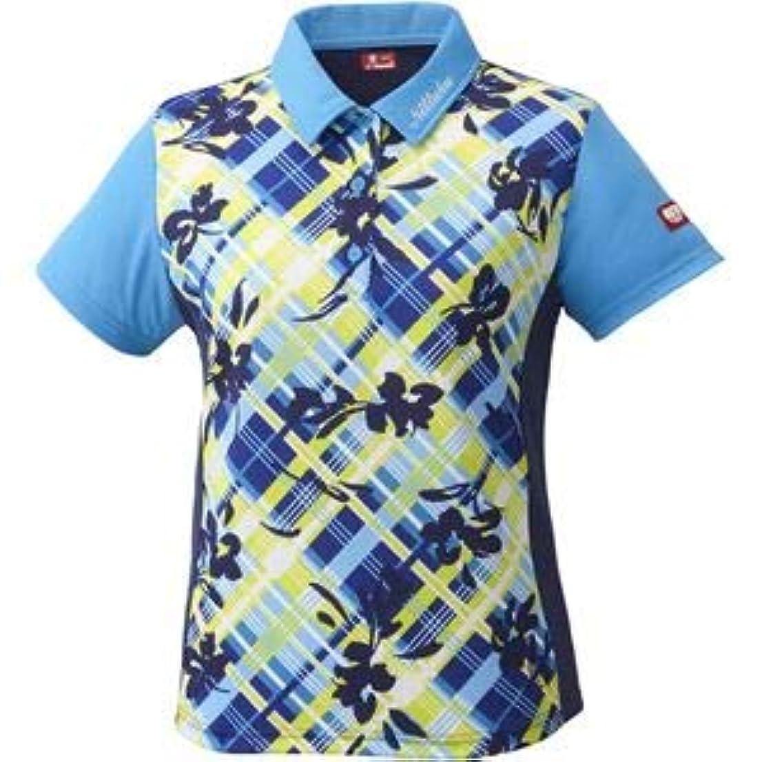 浮く差し引くスクリューニッタク(Nittaku)卓球アパレル FURACHECKS SHIRT(フラチェックスシャツ)ゲームシャツ(レディース)NW2181 ブルー L