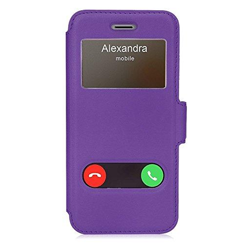 iPhone8 ケース iphone7ケース,Fyy ハンドメイド 窓付きケース PUレザー ケース...