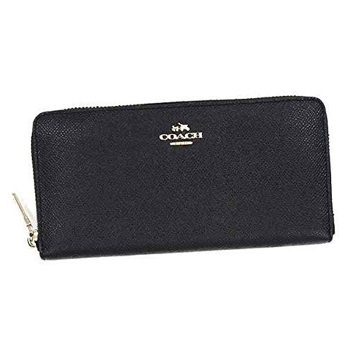 086b92be13c4 コーチ COACH 長財布 ブラック 財布 男女兼用 メンズ財布 ファスナー 大容量 F52372 [並行