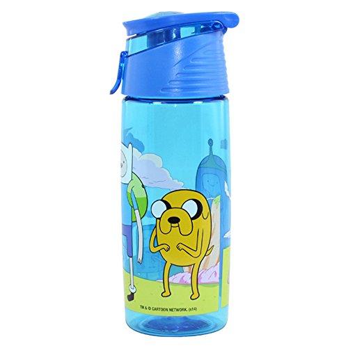 キッズ・子供用 アドベンチャー・タイム オフィシャル商品 トライタン プラスチック ドリンクボトル 水筒 ウォーターボトル (ワンサイズ) (ブルー)