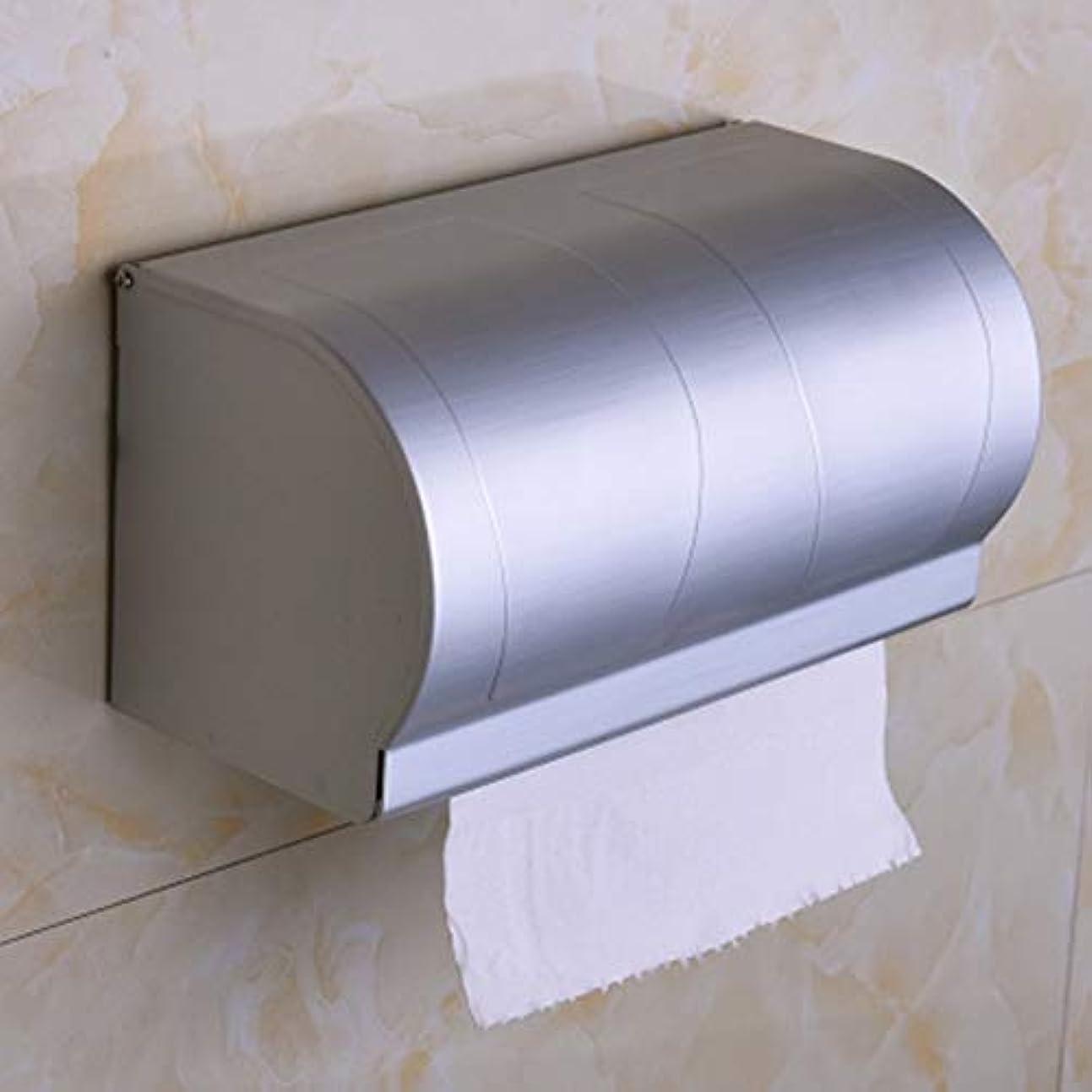 最大批判的に豊かなZZLX 紙タオルホルダー、宇宙アルミのバスルームペーパータオルホルダー閉鎖トイレットペーパーホルダー ロングハンドル風呂ブラシ (色 : C)