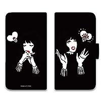 majocco Galaxy Note8 SCV37 ケース 手帳型 プリント手帳 おもいつきA (mj-026) カード収納 スタンド機能 WN-LC770078_LL