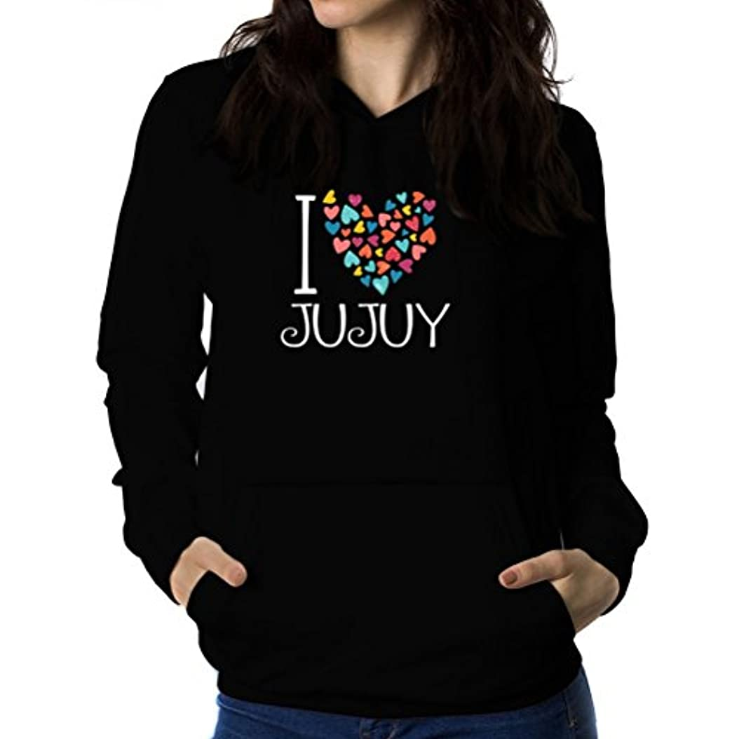 習慣赤ちゃんかもめI love Jujuy colorful hearts 女性 フーディー