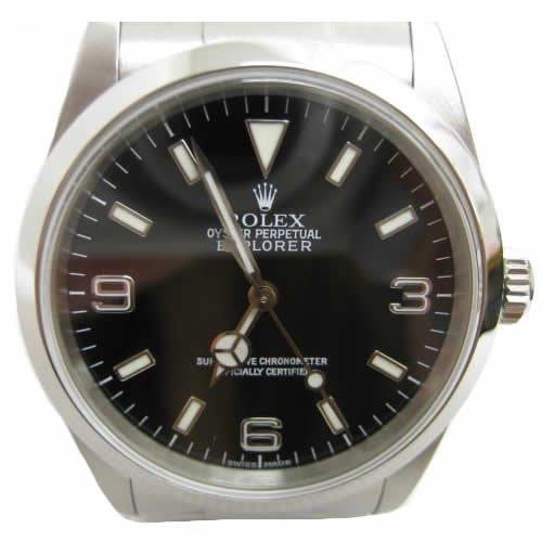 [ロレックス] ROLEX エクスプローラー1 腕時計 ウォッチ ブラック ステンレススチール(SS) 114270 [中古]