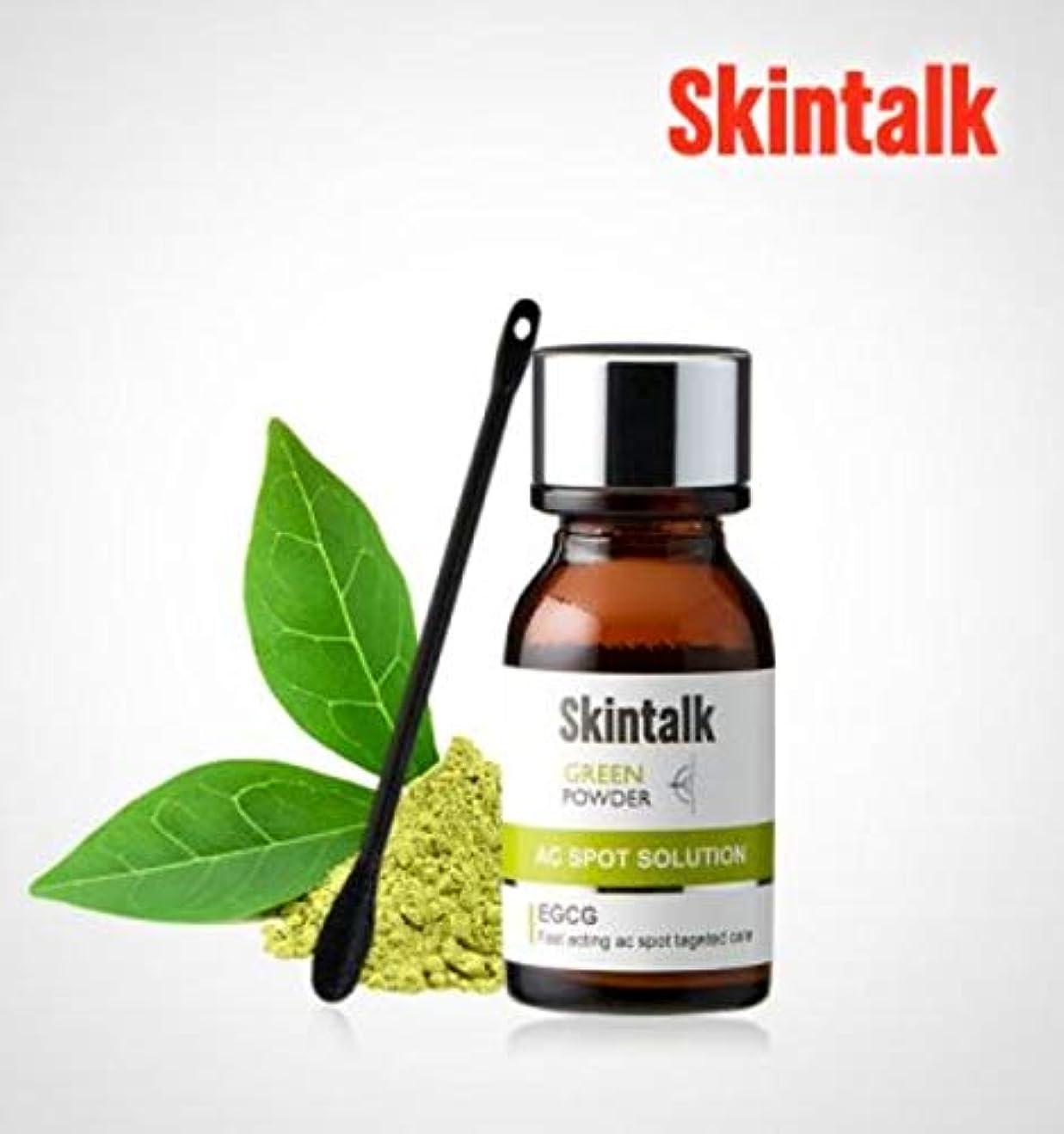 永久にフォーム極めて重要な[スキントーク(SKINTALK)]グリーンパウダー AHA BHA 角質?皮脂除去、皮膚鎮静 16 ml/ 0.54 fl.oz、スキンビューティーコスメティク、K-Beauty