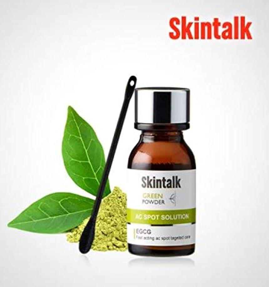 男性虐待パシフィック[スキントーク(SKINTALK)]グリーンパウダー AHA BHA 角質?皮脂除去、皮膚鎮静 16 ml/ 0.54 fl.oz、スキンビューティーコスメティク、K-Beauty