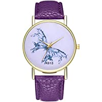 Ladies Wrist Watches on Clearance,Stainless Steel Watches for Women,Women's Watch with Day and Date,Women Watches (Purple)