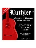 CUERDAS GUITARRA CLASICA - Luthier (LU/60) Concert Silver (Extra Hard Tension) (Juego Completo)