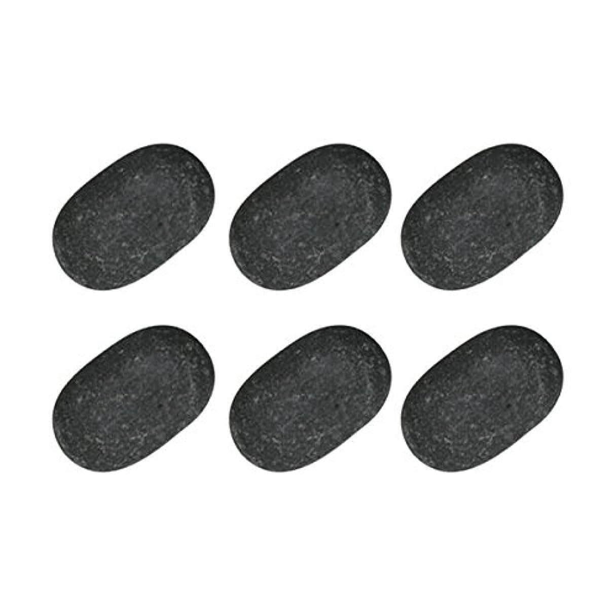 スカープ比較的インク玄武岩 ホットストーン 6個セット [ ホットストーン ホット ストーン ストーンヒーター ホットストーンセラピー セラピー 玄武岩 天然石 スパ ロミロミ ハワイ ハワイアン マッサージ ]