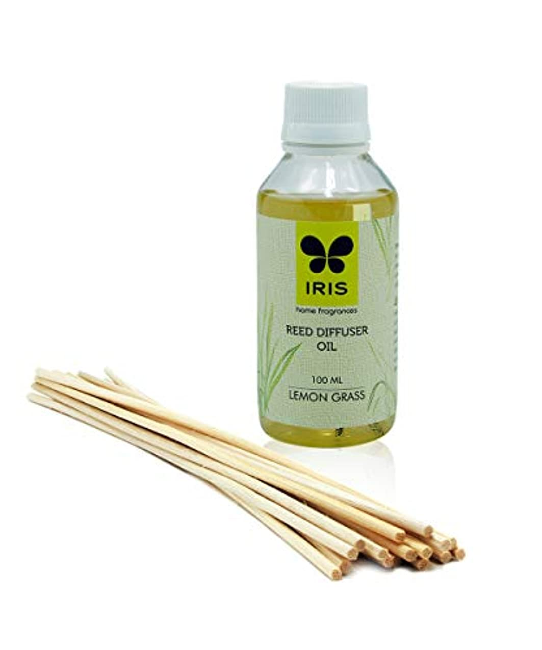 マカダム食物折Iris Reed Diffuser Refill Pack Lemon Grass Fragrance標準