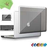 "UESWILL 3イン1 光沢クリスタルクリアシースルー ハードシェルケース シリコンキーボードカバー MacBook 13 15インチ用 CD-ROM付き マイクロファイバークリーニングクロス付き MacBook Pro 13"" (CD-ROM Drive)"