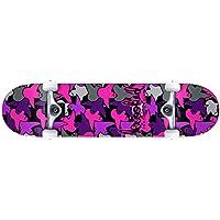クルキッド (KROOKED) BIRDCAMO MINI 7.3 キッズサイズ スケートボード スケボー コンプリート 完成品