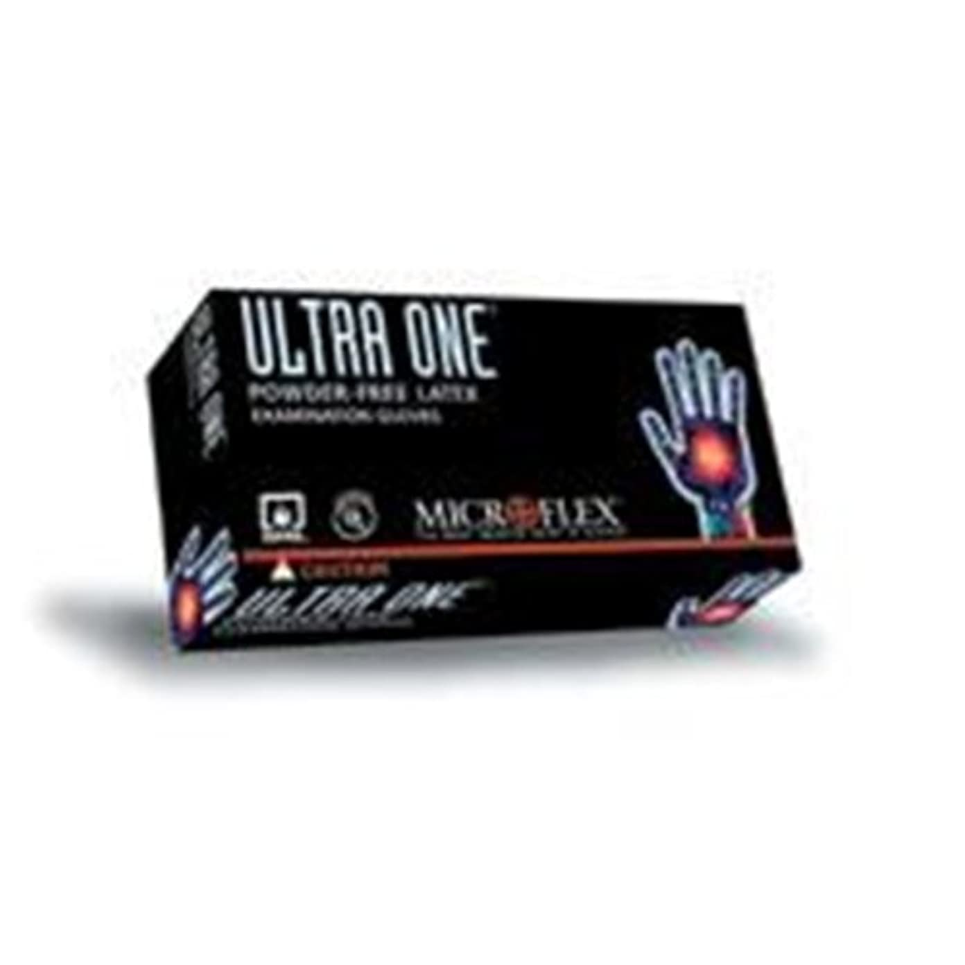 すりチャーターBarrierSafe Solutions International UL315-L Microflex Ultra One 9.8 mil Latex Ambidextrous Non-Sterile Powder-Free...