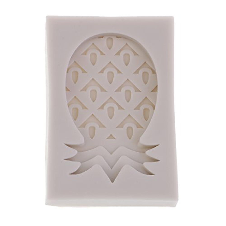 Prettyia DIYクラフト シリコーン金型 パイナップルの形 モールド フォンダン