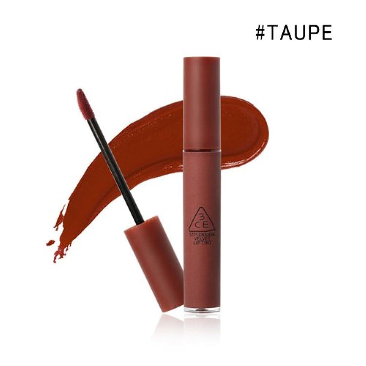 適用済み脱臼する鮮やかな3CE VELVET LIP TINT / ベルベット リップティント (4.0g) (#TAUPE)