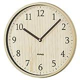 MAG(マグ) 掛け時計 アナログ アズサ 直径約25cm 連続秒針 ナチュラル W-742N-Z
