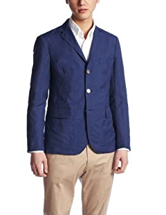 Beauty & Youth Wool Linen 3-button Blazer 1222-111-0609: Royal