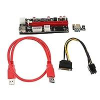 Fenteer 多機能 実用的 PCIe ライザー1X ~16X グラフィック  拡張ライザー マイニング カード 0.6M USB3.0 ケーブル