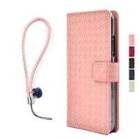HUAWEI P10 Plus [横型] ピンク 色 フラップ マグネット 系 スタンド 横 手帳 型 携帯 スマホ カバー ケース スマホケース PU 合皮 おしゃれ 可愛い 人気 ピカデリー