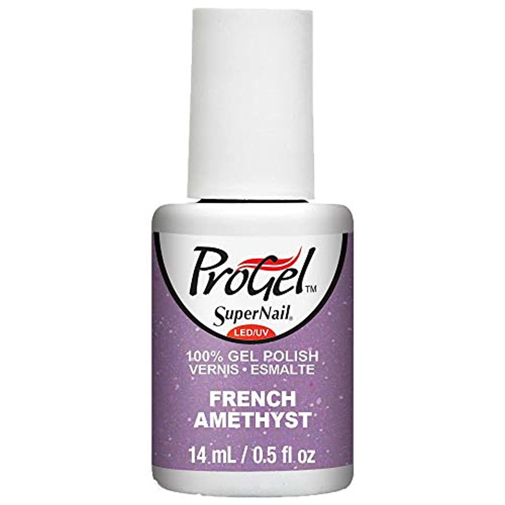 せっかち額ふけるSuperNail ProGel Gel Polish - French Amethyst - 0.5oz / 14ml