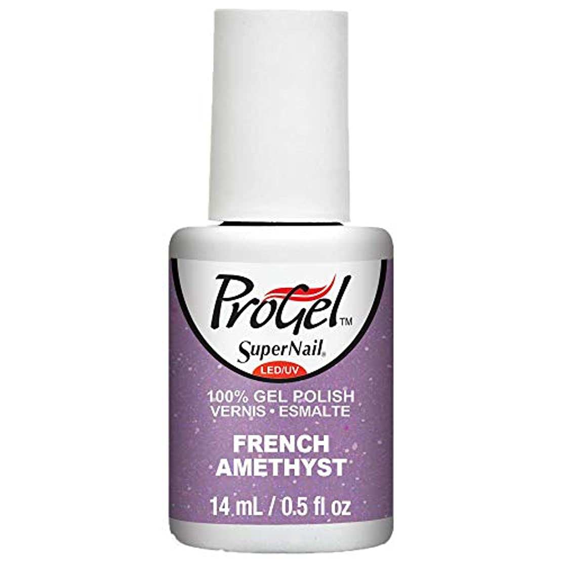 眉をひそめる入浴潤滑するSuperNail ProGel Gel Polish - French Amethyst - 0.5oz / 14ml