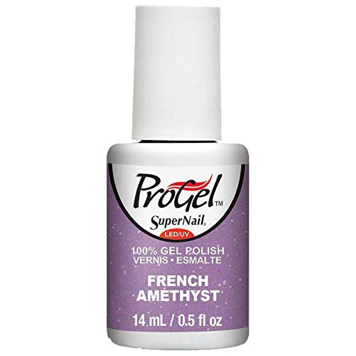 歴史廃止採用SuperNail ProGel Gel Polish - French Amethyst - 0.5oz / 14ml