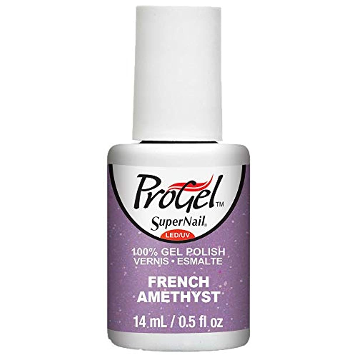 車両シード悪意のあるSuperNail ProGel Gel Polish - French Amethyst - 0.5oz / 14ml