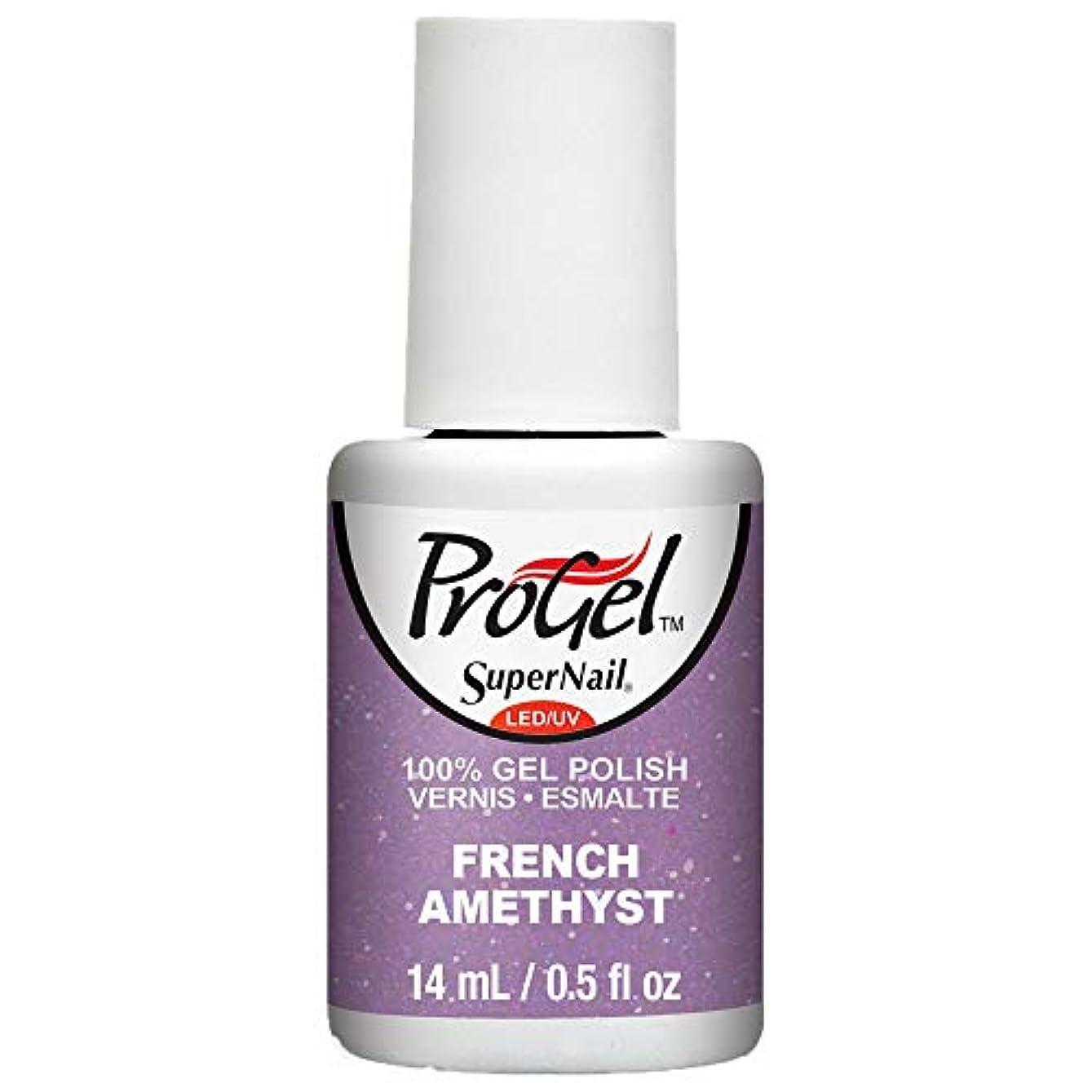 環境甘味官僚SuperNail ProGel Gel Polish - French Amethyst - 0.5oz / 14ml