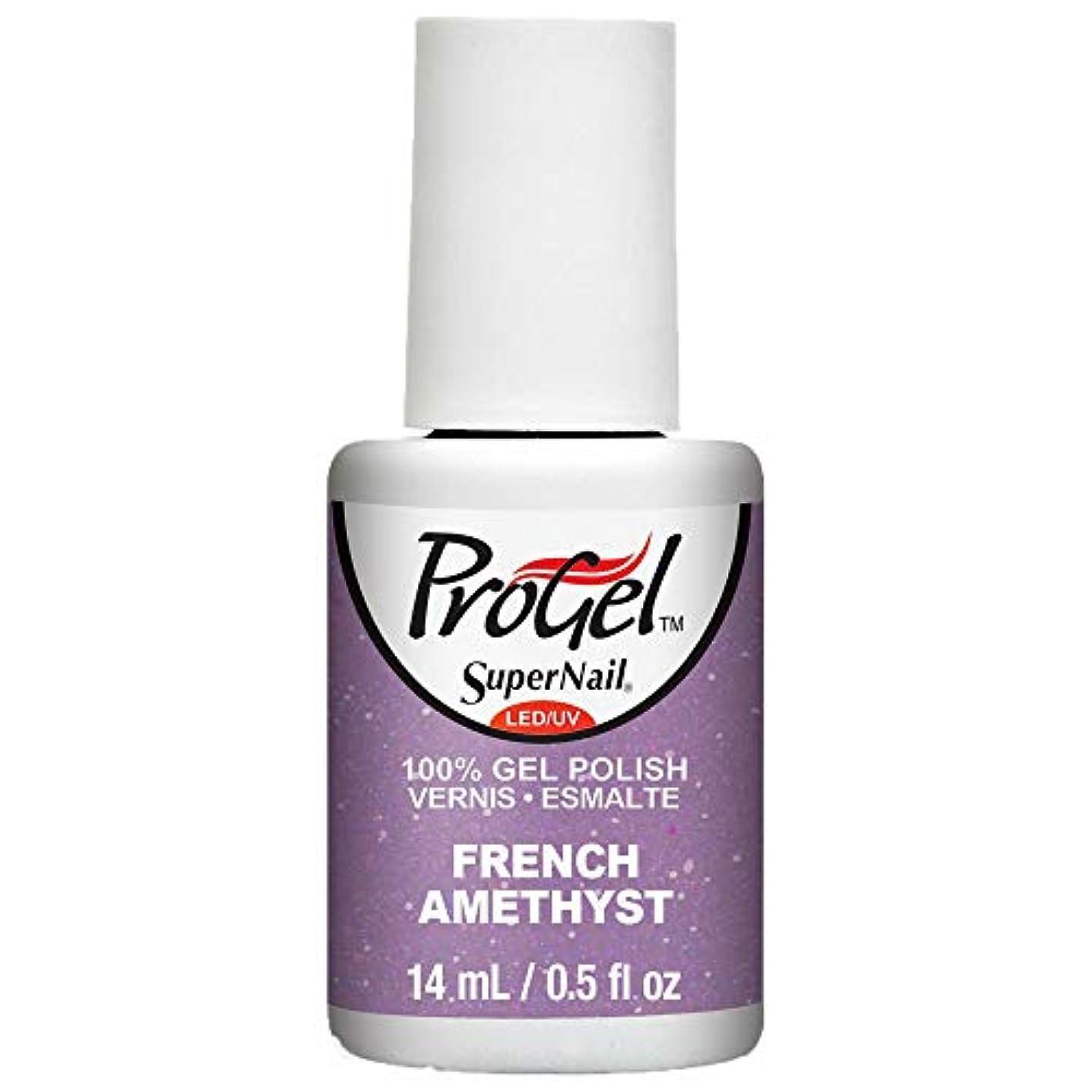 故意の先史時代の光SuperNail ProGel Gel Polish - French Amethyst - 0.5oz / 14ml
