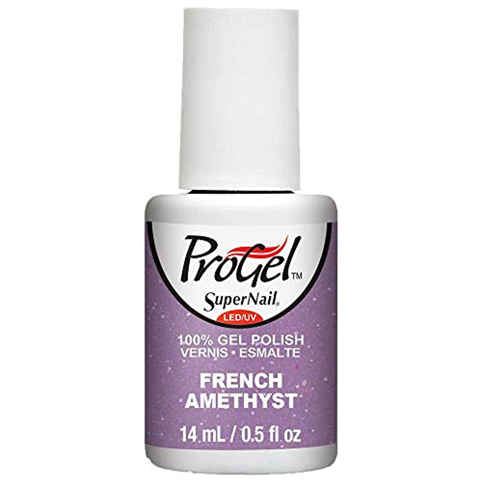 一過性一握りキャンディーSuperNail ProGel Gel Polish - French Amethyst - 0.5oz / 14ml