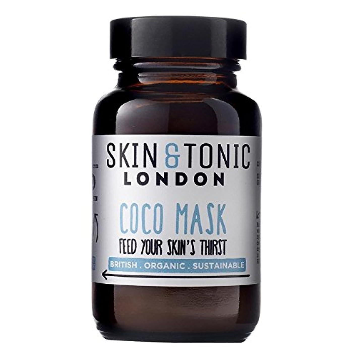 持参連鎖ピアノスキン&トニックロンドンココマスク50グラム x2 - Skin & Tonic London Coco Mask 50g (Pack of 2) [並行輸入品]