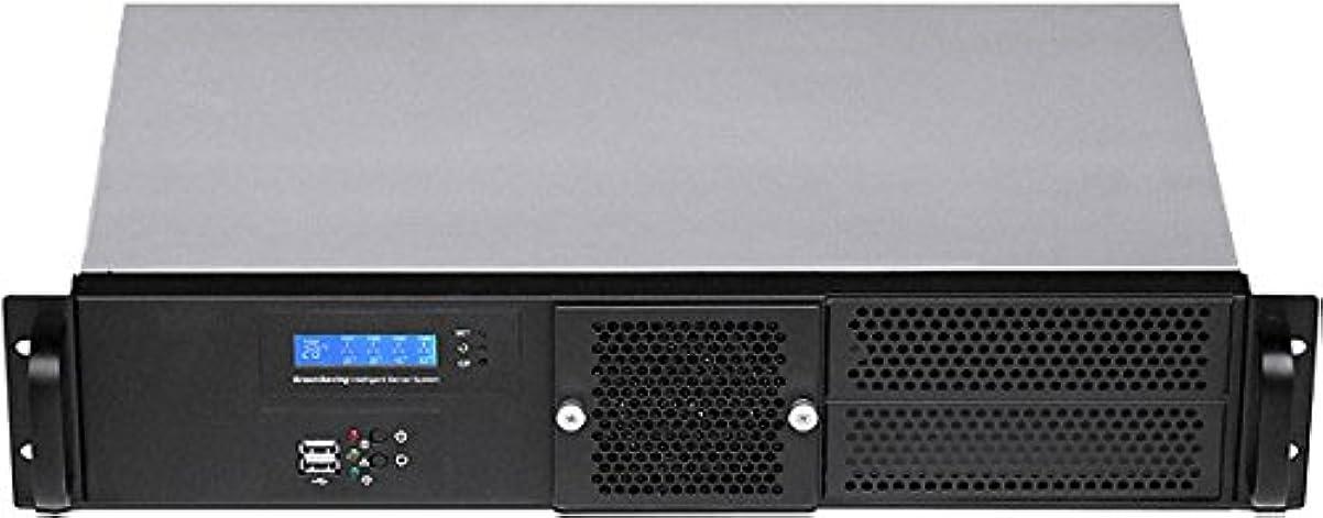 くすぐったい頼むすぐにplinkusa rackbuy 2u ( Enhance 400 W PSU ) (ファンLCD ) ( 2 x 5.25