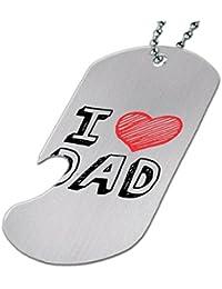 I Love Dad – ボトルOpener犬タグネックレス