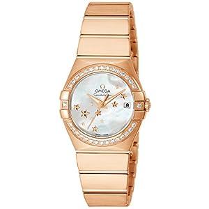 [オメガ]OMEGA 腕時計 Constellation ホワイトパール文字盤 コーアクシャル自動巻き ダイヤモンド 123.55.27.20.05.003 レディース 【並行輸入品】