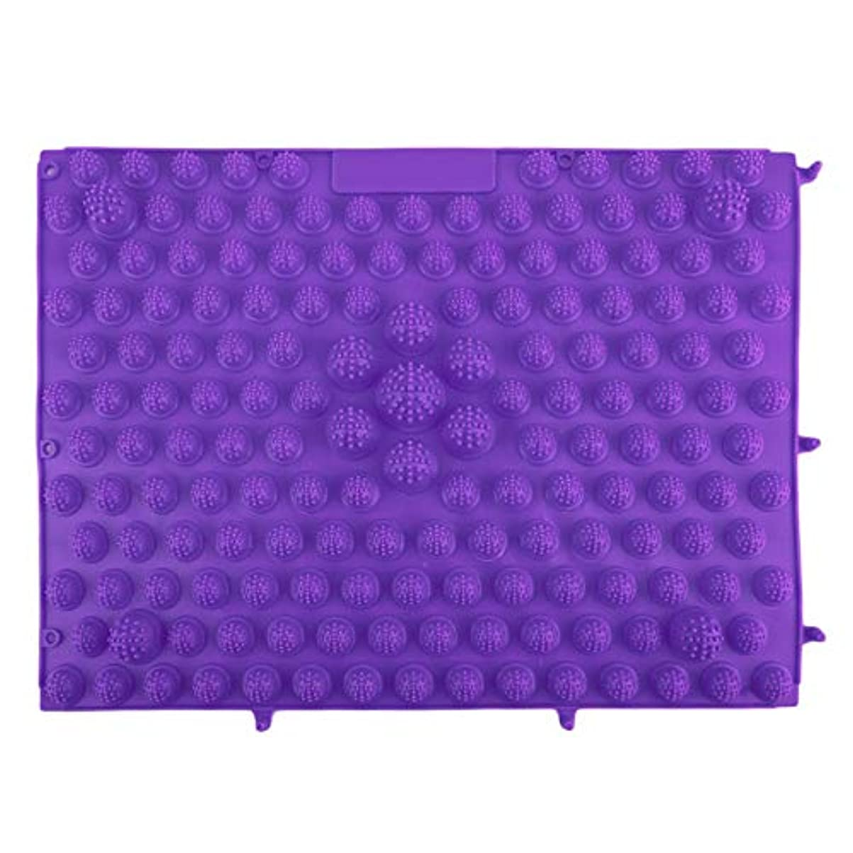 コイン散るチャペル韓国風フットマッサージパッドTPEモダン指圧リフレクソロジーマット鍼灸敷物疲労緩和促進循環 - 紫色