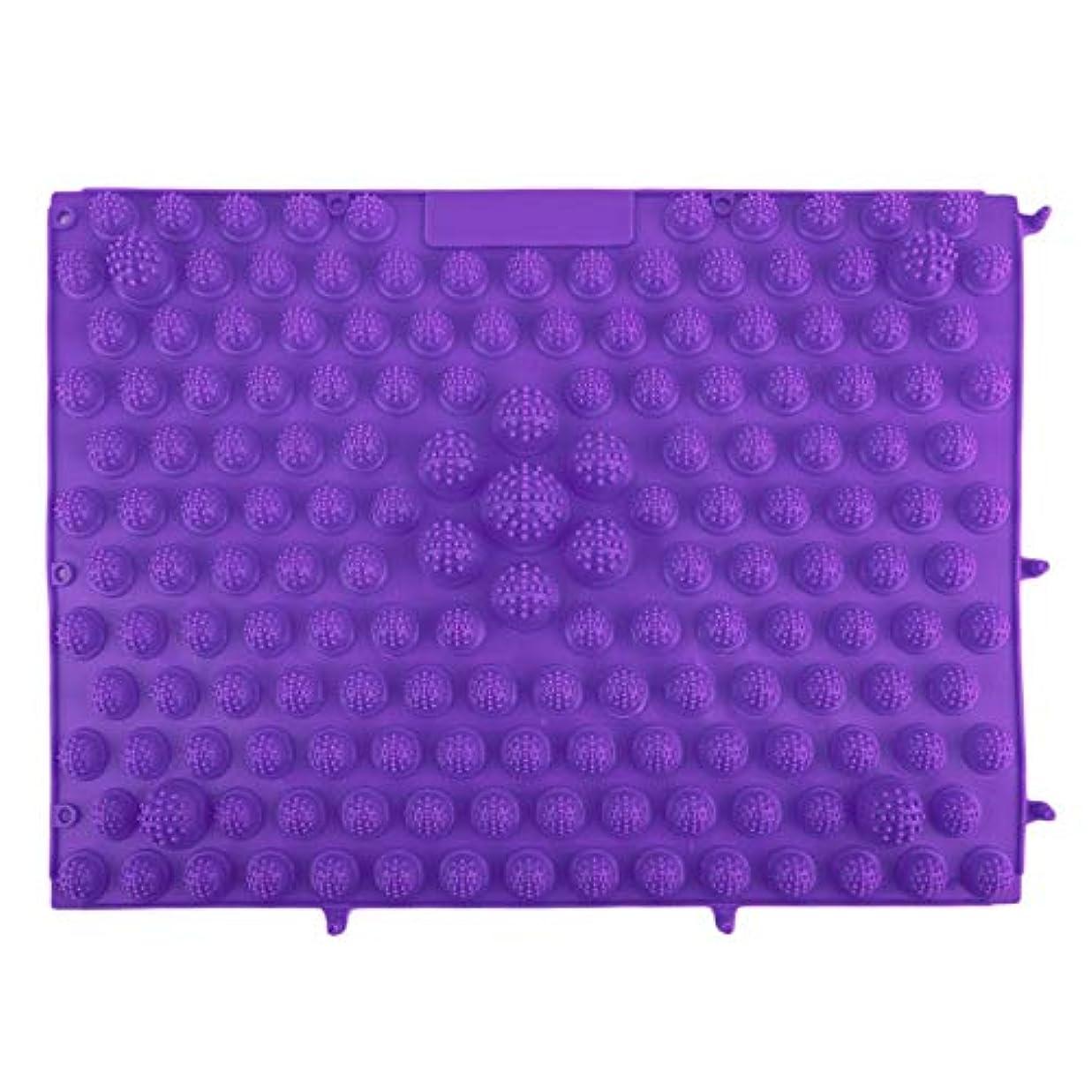 前部黒人パーツ韓国風フットマッサージパッドTPEモダン指圧リフレクソロジーマット鍼灸敷物疲労緩和促進循環 - 紫色