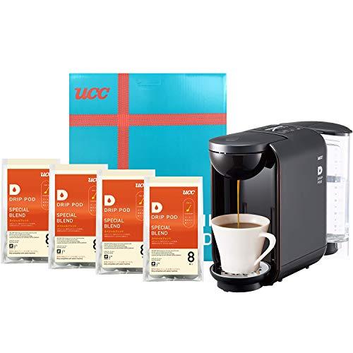【Amazon.co.jp限定】UCC ドリップポッド コーヒーメーカー カプセル式 (ブラック) DP2(K) + 鑑定士の誇り スペシャルブレンド コーヒー ポッド 32個