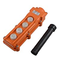 DealMux 4つの方法ホイストクレーン押しボタンスイッチ、オレンジCOB-62、250V、5アンペア、500V、2アンペア
