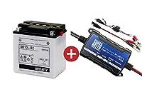 バイクバッテリー充電器+SB10L-B2 セット■■YB10L-B2に互換■■スーパーナット充電器