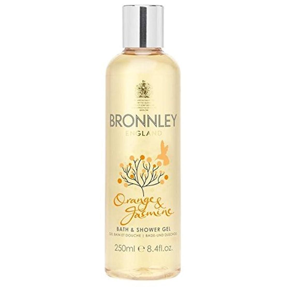 大腿軽量リネンオレンジ&ジャスミンバス&シャワージェル250ミリリットル x2 - Bronnley Orange & Jasmine Bath & Shower Gel 250ml (Pack of 2) [並行輸入品]