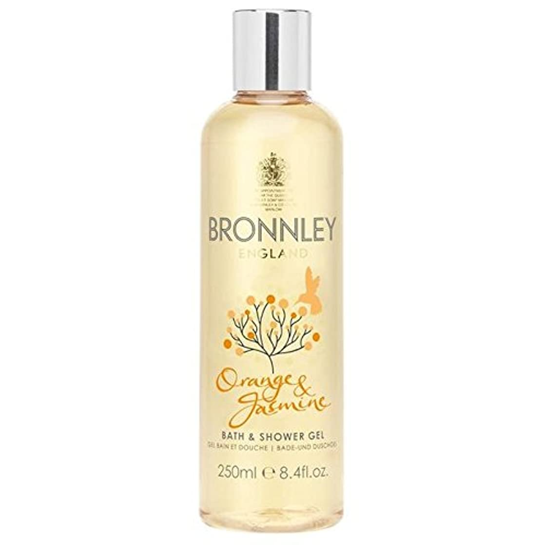 雇う強打証拠Bronnley Orange & Jasmine Bath & Shower Gel 250ml - オレンジ&ジャスミンバス&シャワージェル250ミリリットル [並行輸入品]
