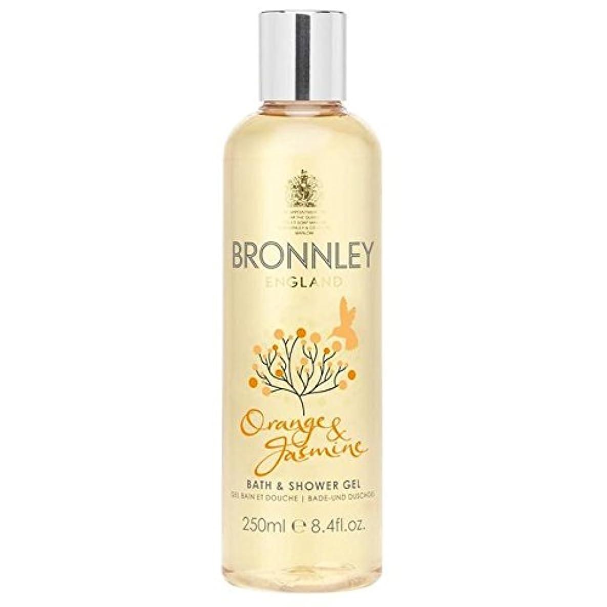 眠いです湿原コンセンサスBronnley Orange & Jasmine Bath & Shower Gel 250ml - オレンジ&ジャスミンバス&シャワージェル250ミリリットル [並行輸入品]