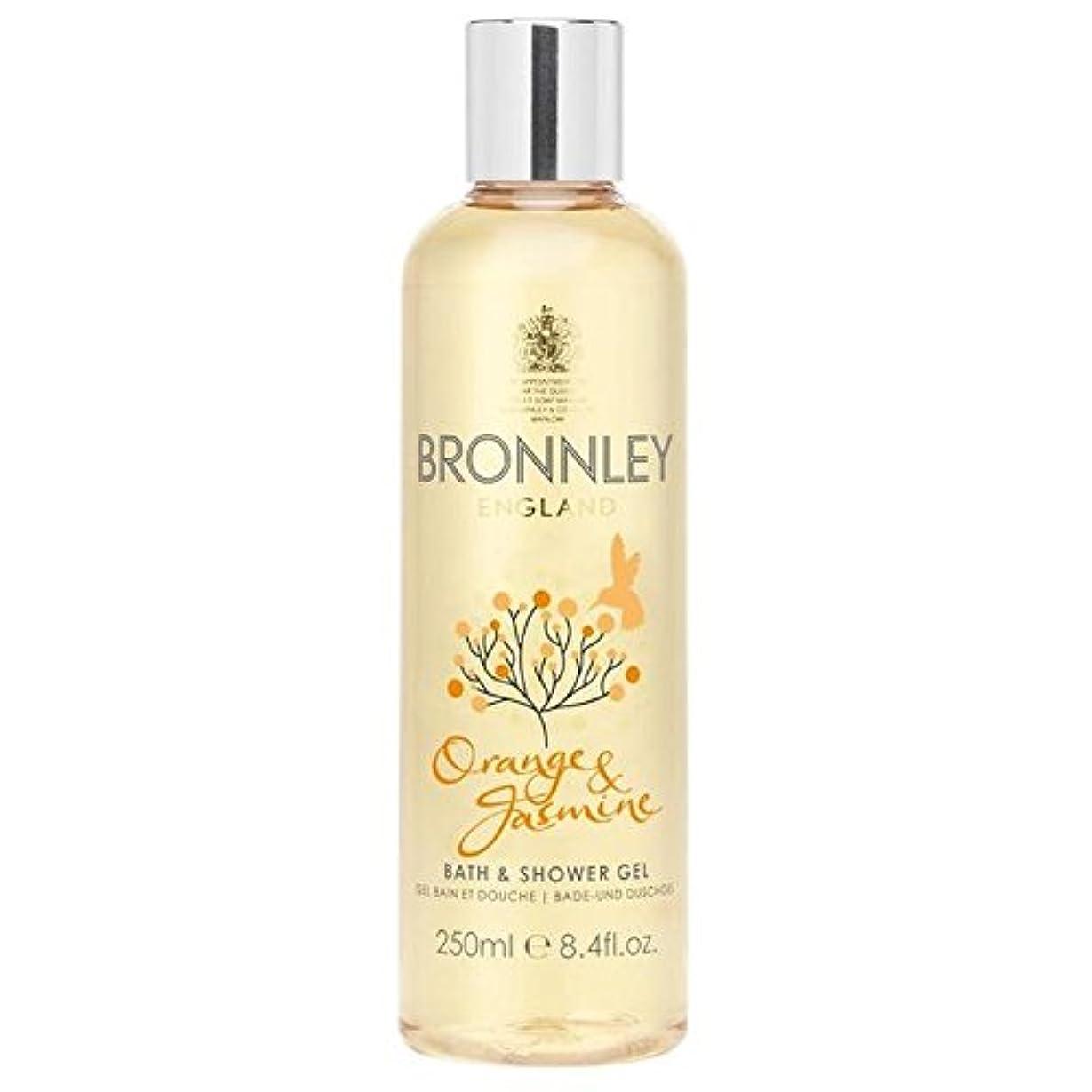 ハム旋回賢いオレンジ&ジャスミンバス&シャワージェル250ミリリットル x4 - Bronnley Orange & Jasmine Bath & Shower Gel 250ml (Pack of 4) [並行輸入品]
