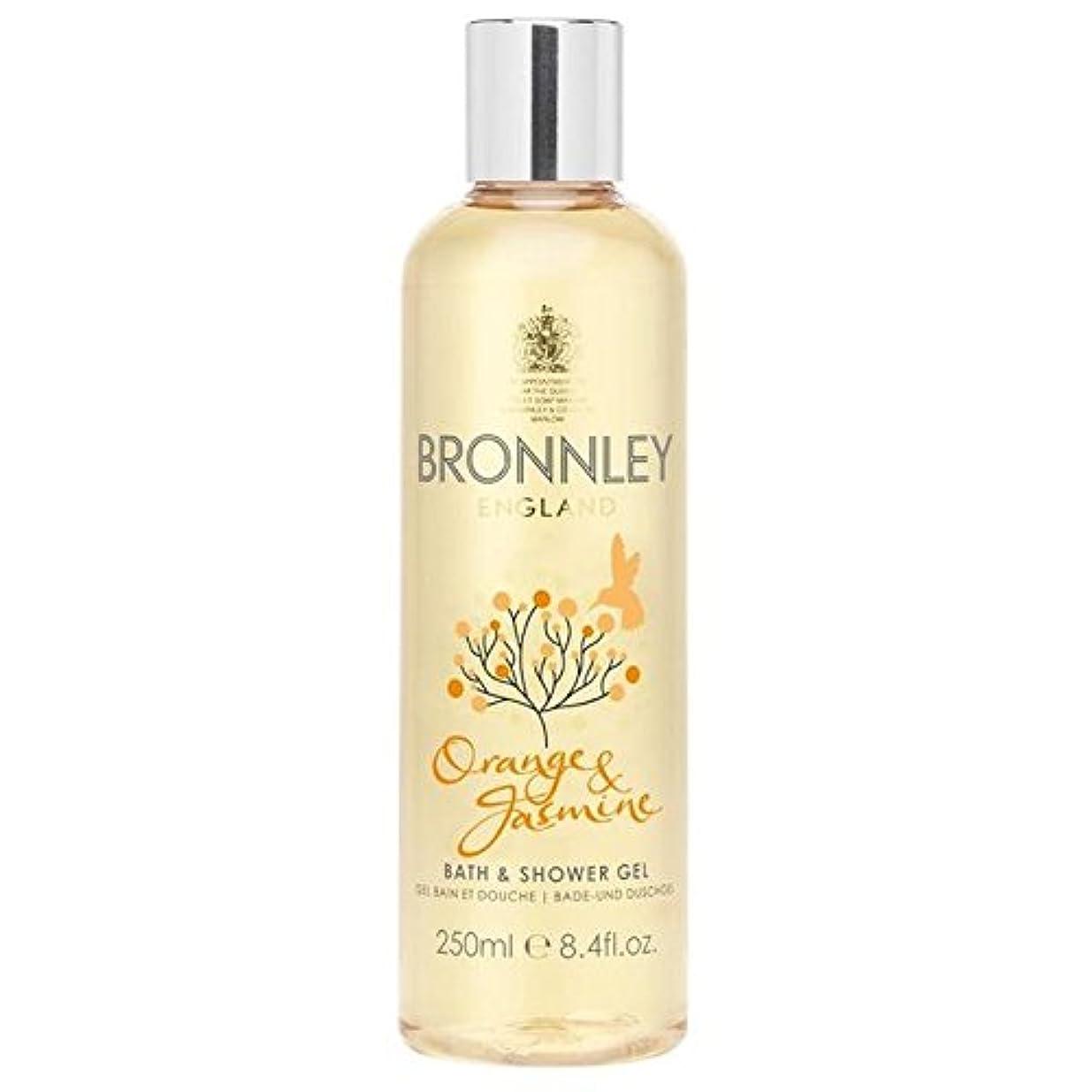 欠陥バケツ笑オレンジ&ジャスミンバス&シャワージェル250ミリリットル x2 - Bronnley Orange & Jasmine Bath & Shower Gel 250ml (Pack of 2) [並行輸入品]