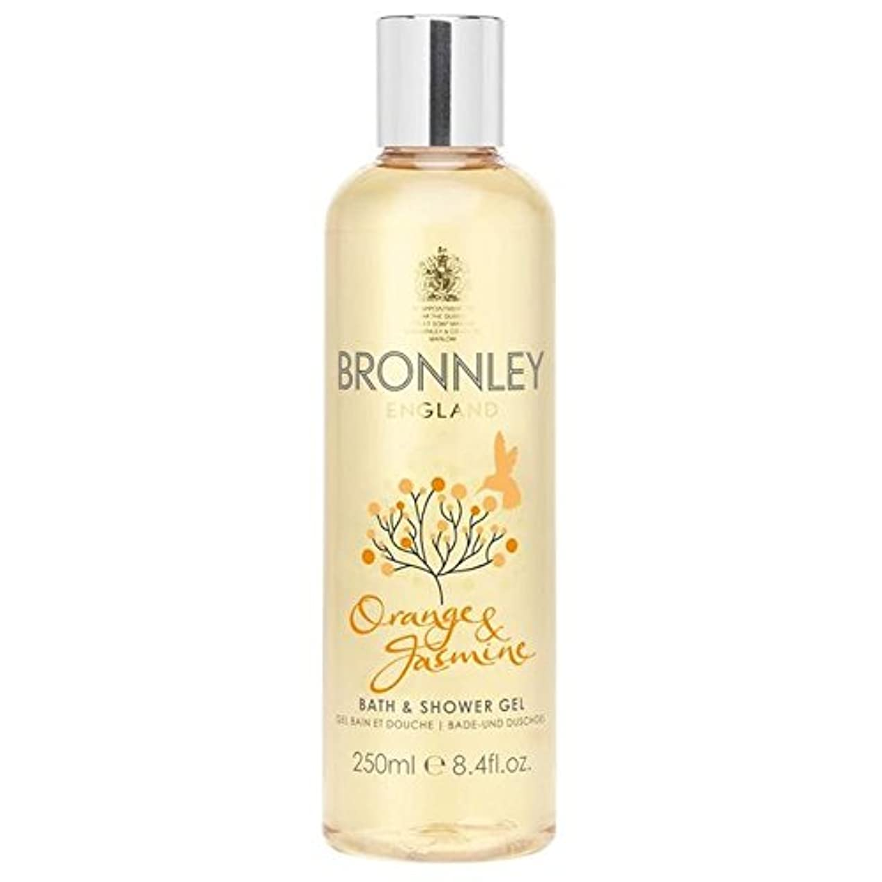 オレンジ&ジャスミンバス&シャワージェル250ミリリットル x4 - Bronnley Orange & Jasmine Bath & Shower Gel 250ml (Pack of 4) [並行輸入品]