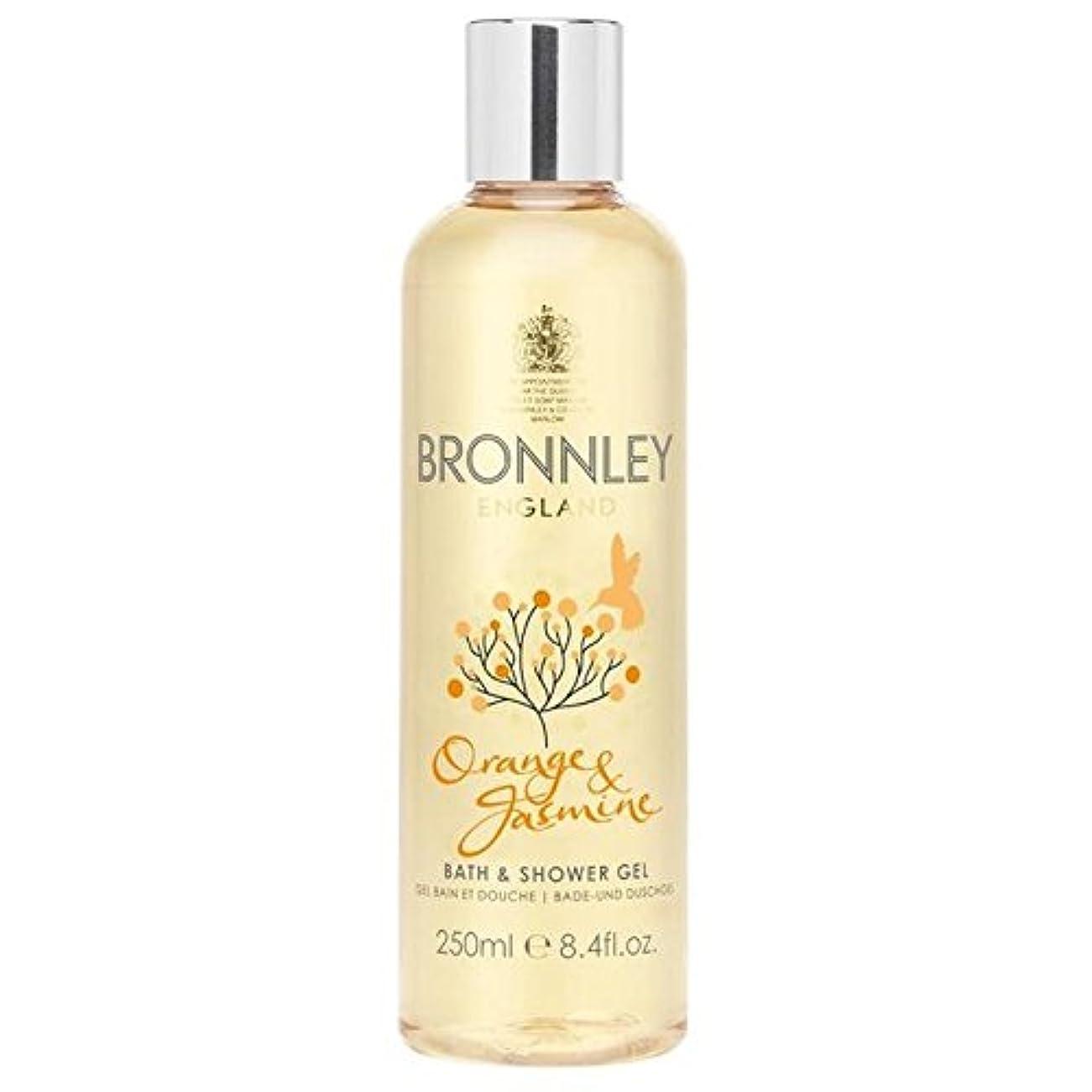 パノラマ奨励します使役オレンジ&ジャスミンバス&シャワージェル250ミリリットル x2 - Bronnley Orange & Jasmine Bath & Shower Gel 250ml (Pack of 2) [並行輸入品]