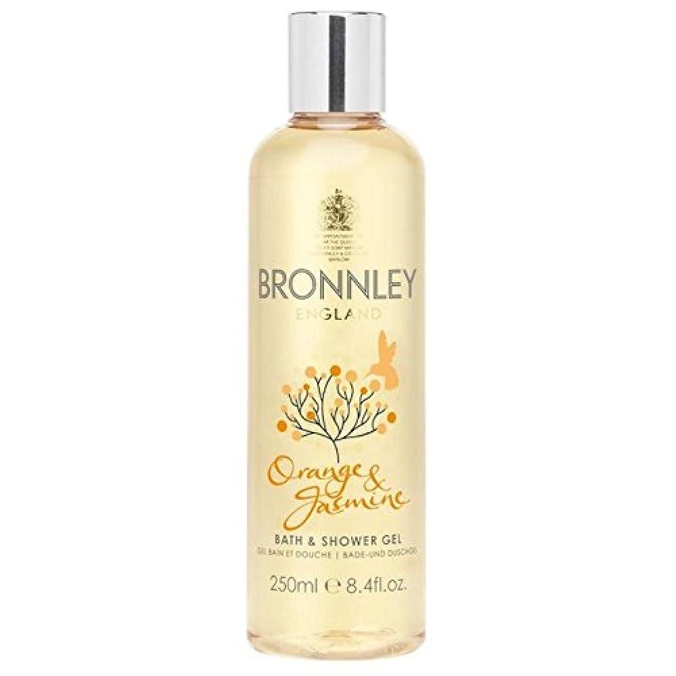 おめでとう維持するセンサーオレンジ&ジャスミンバス&シャワージェル250ミリリットル x4 - Bronnley Orange & Jasmine Bath & Shower Gel 250ml (Pack of 4) [並行輸入品]