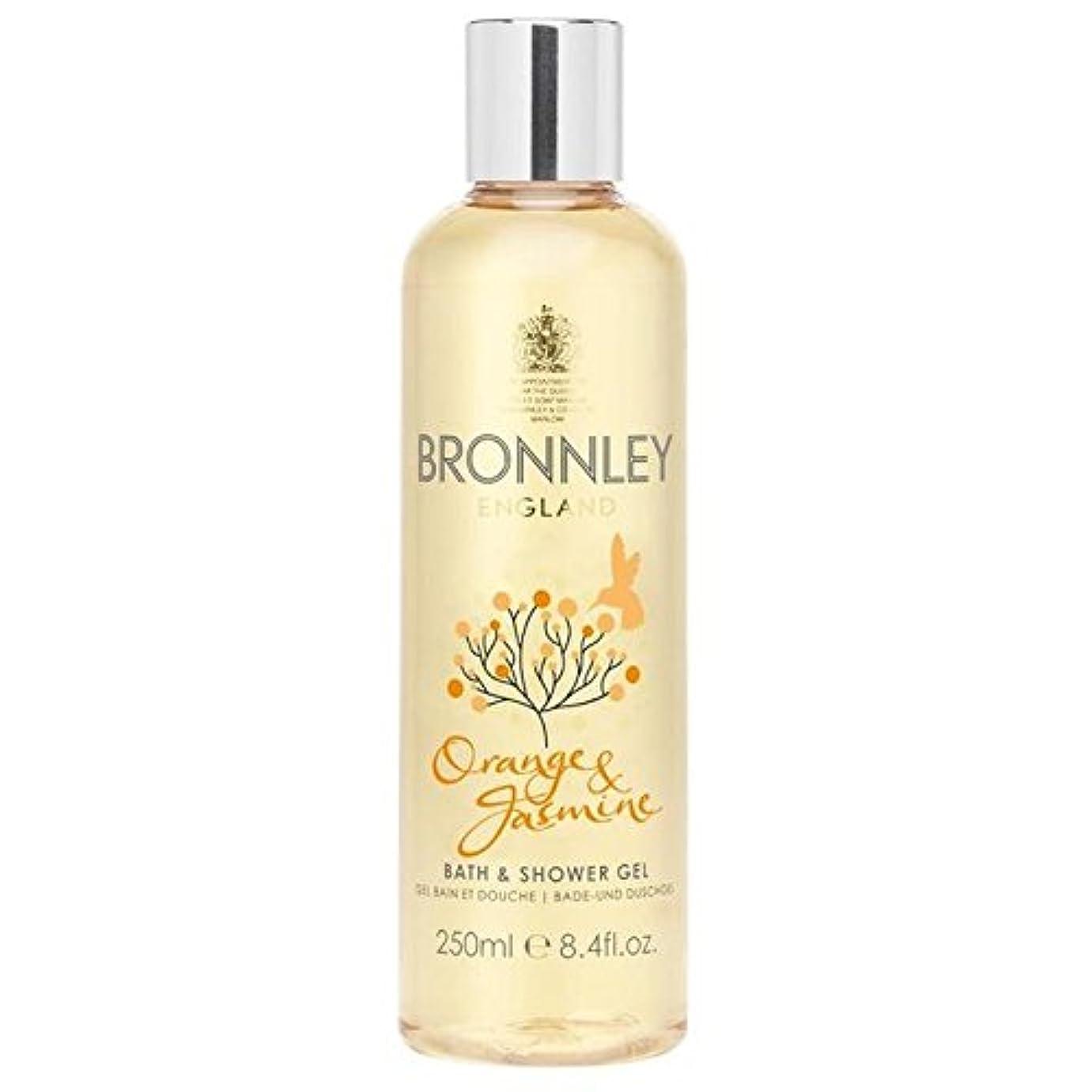 制約赤ちゃん周術期オレンジ&ジャスミンバス&シャワージェル250ミリリットル x4 - Bronnley Orange & Jasmine Bath & Shower Gel 250ml (Pack of 4) [並行輸入品]