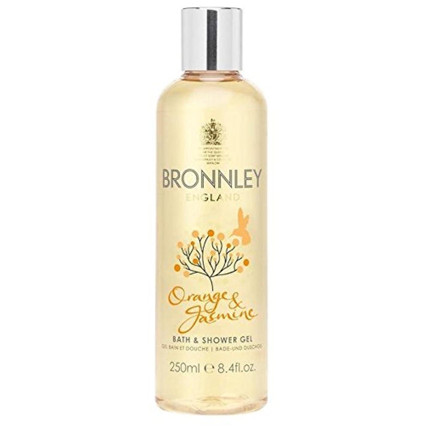 会計士自伝星オレンジ&ジャスミンバス&シャワージェル250ミリリットル x2 - Bronnley Orange & Jasmine Bath & Shower Gel 250ml (Pack of 2) [並行輸入品]
